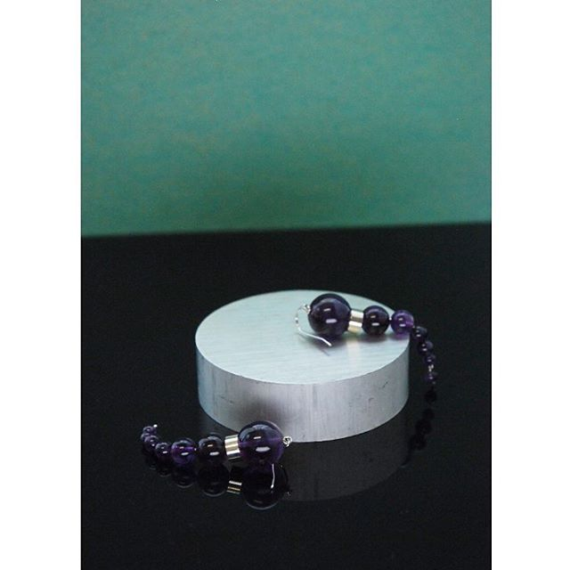 Olympia earrings - amethyst  #ciitaadornments #ciita #earrings #jewelry