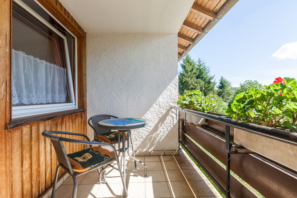 Double room, private bathroom, TV and balcony