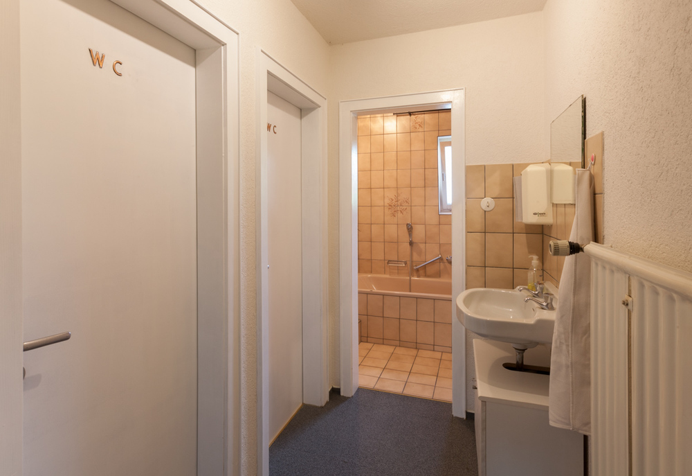Shared bathroom on the floor