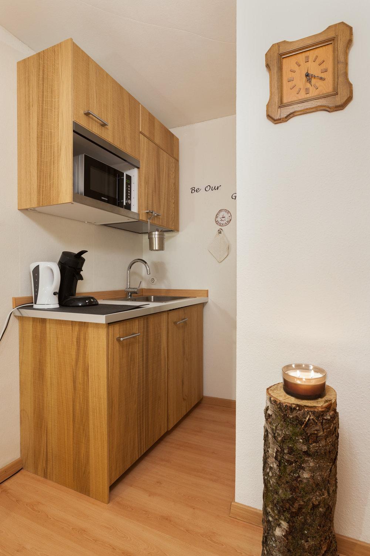Kochnische mit gratis Kaffee & Tee, Kühlschrank und Mikrowelle