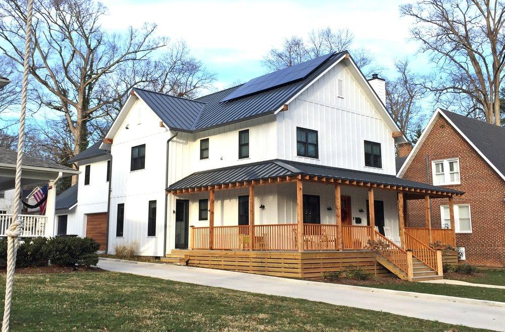 Modern Farmhouse / Ardmore, Winston Salem /2017 Design/Build
