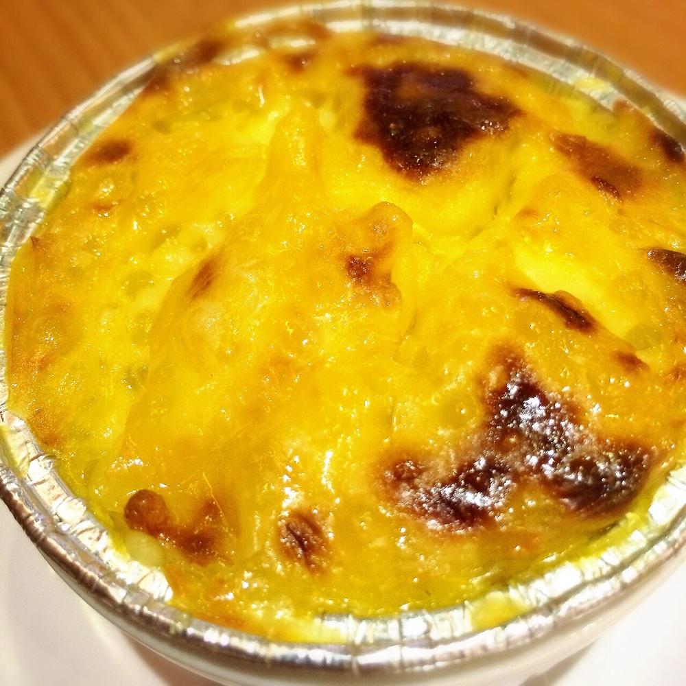 焗荔茸西米布丁 Baked Mashed Taro Sago Pudding (Hot) $5.10