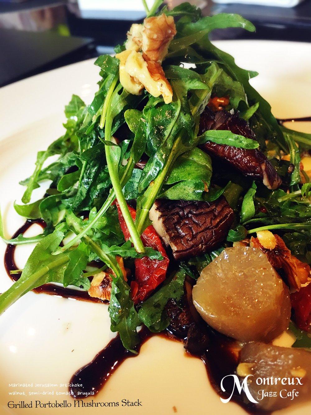 Grilled Portobello Mushrooms Stack