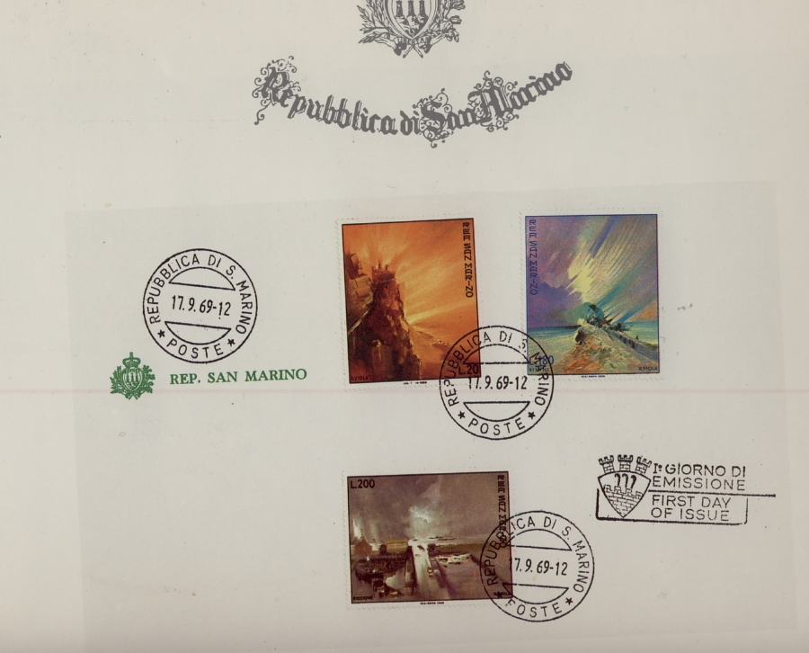 Rodolfo Viola stamp series. Republic of San Marino
