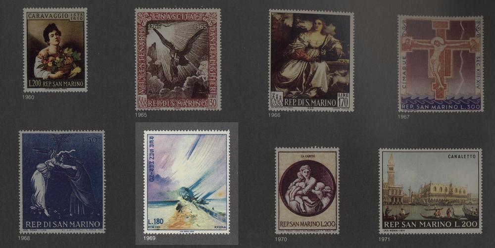 Serie di francobolli della Repubblica di San Marino dedicate alle Opere d'Arte