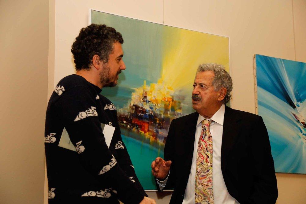 Lo scrittore Gianluigi Ricuperati e Rodolfo Viola