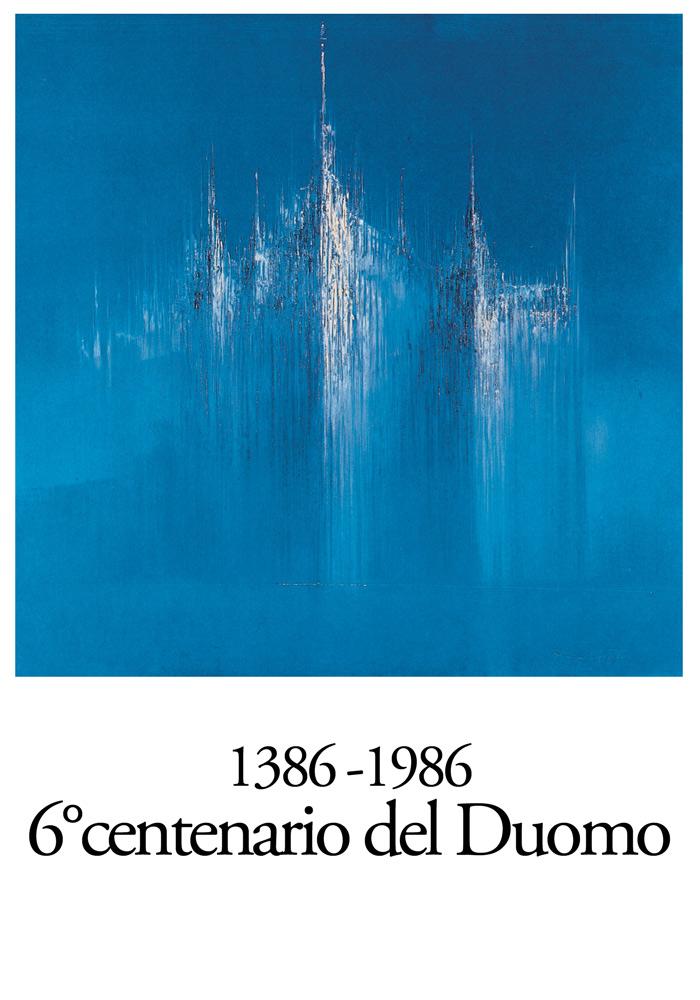Manifesto 600 anni del Duomo di Milano commisionato dalla Veneranda Fabbrica del Duomo di Milano