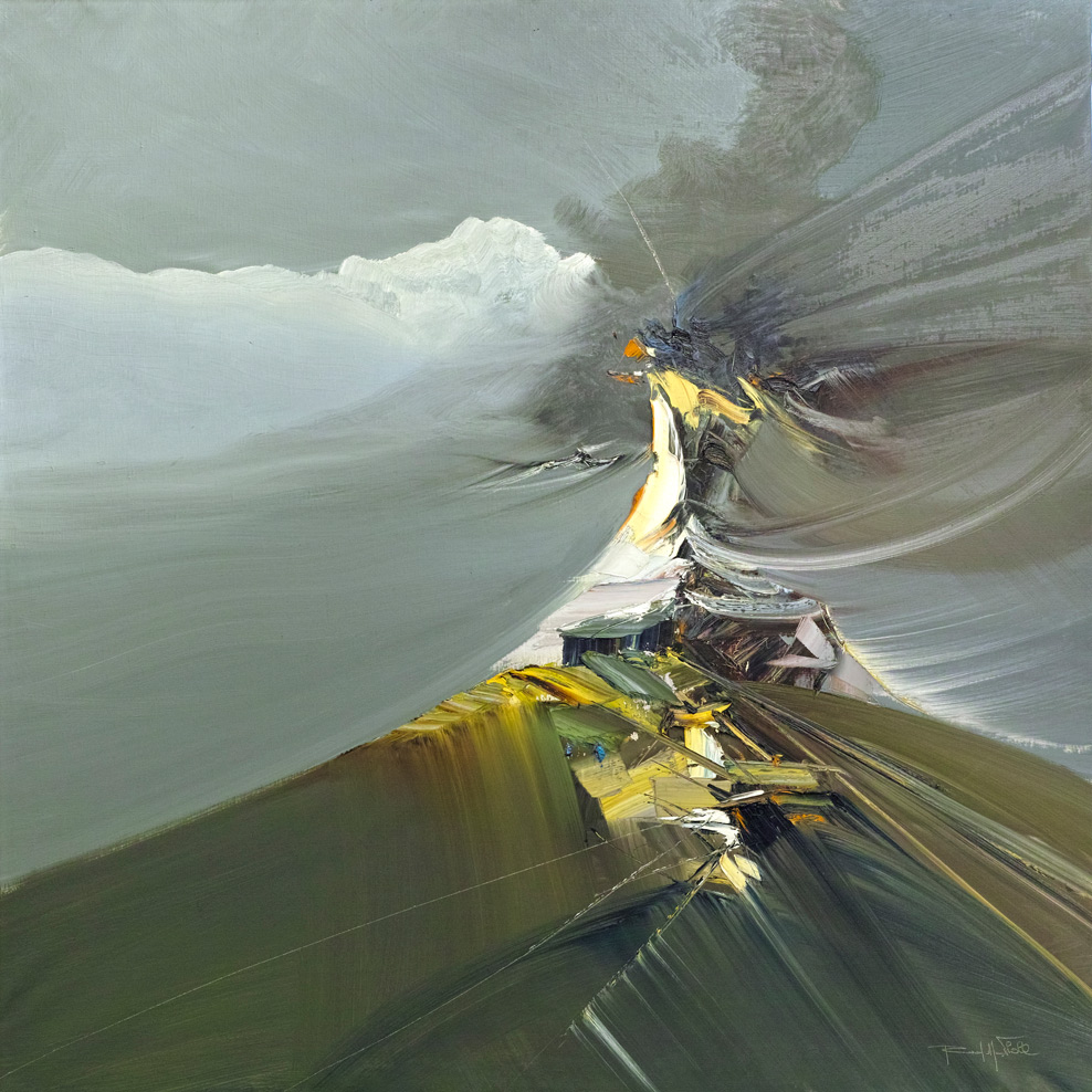Rodolfo Viola ,  Tibet , oil on canvas 100 x 100 cm.