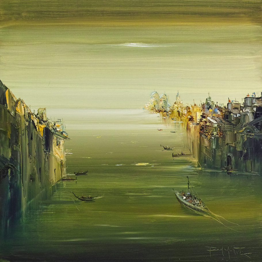 Rodolfo Viola ,  Venezia , oil on canvas, 80x 80 cm.