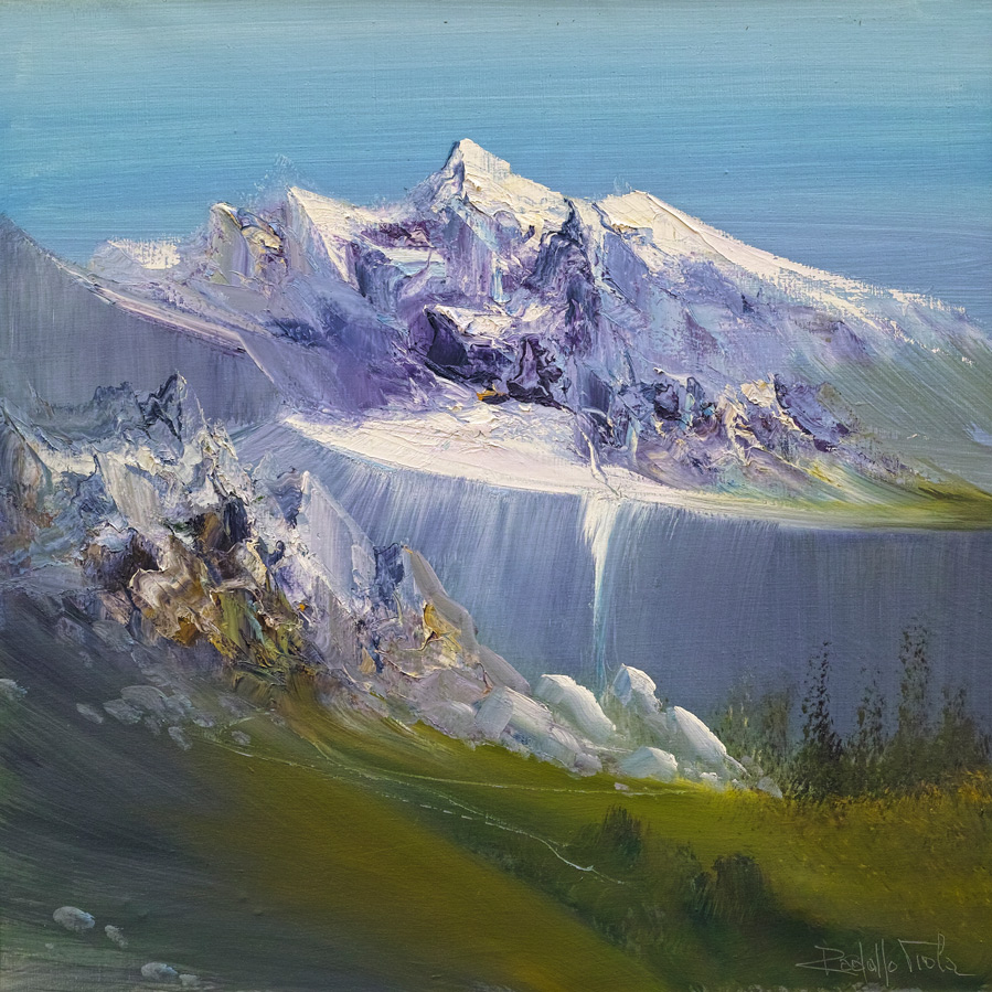 Rodolfo Viola ,  Montagna , oil on canvas, 60 x 60 cm.