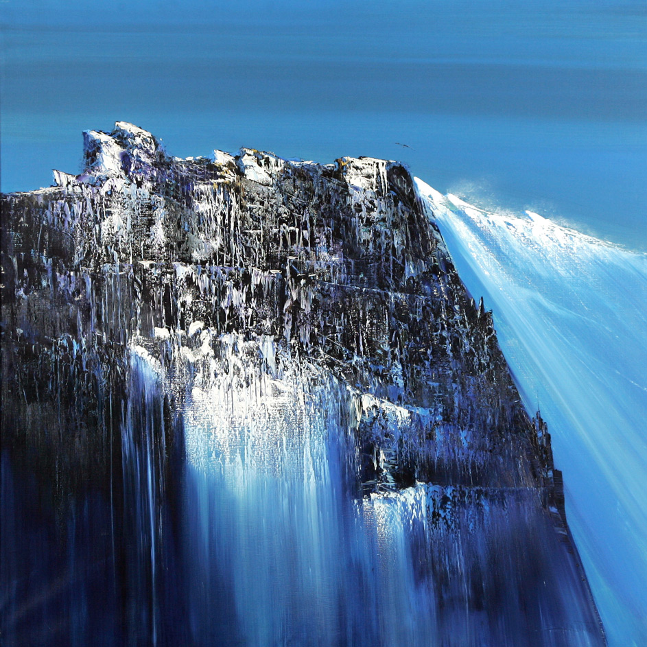 Rodolfo Viola.   Cascata di luce , oil on canvas, 100 x 100 cm.