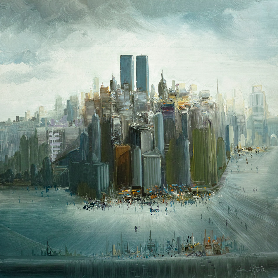 Rodolfo Viola ,  New York , oil on canvas, 100 x 100 cm