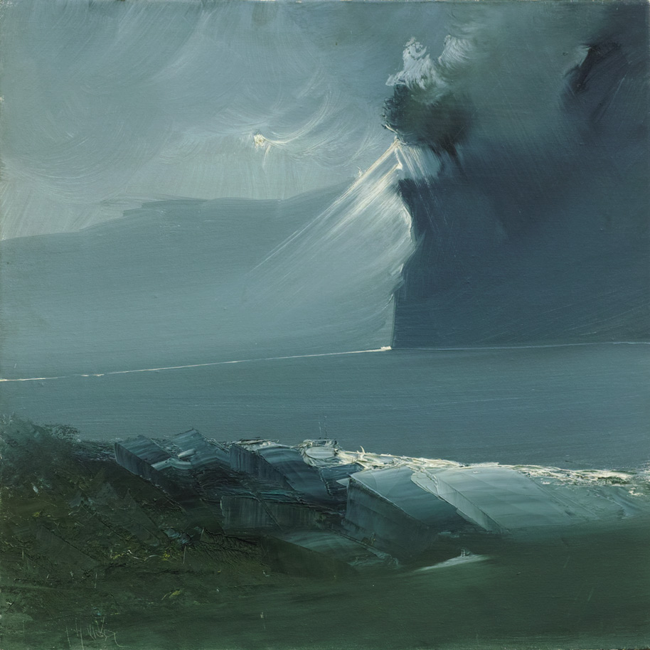 Rodolfo Viola ,  Improvvisamente luce , oil on canvas, 50 x 50 cm