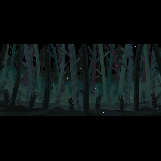 Forest stage drop I designed for @ovationtheatre's production of Rodgers and Hammerstein's #Cinderella, directed by @jtgrimmett. Super impressed that the Ovation kids and I painted about half of this 18' x 40' piece in one sitting. Excited to see how the final result turns out and for my back and hamstrings to stop aching. #stagedesign #backdrop #forest #mural #illustration #trees #magicalforest #paint #painting #art #artistsoninstagram #stage #theatre