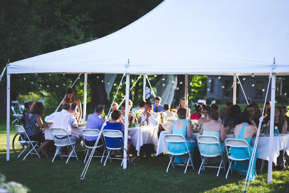 Tent at Bliss Farm in Granville, Massachusetts. Sweet Alice Photography.