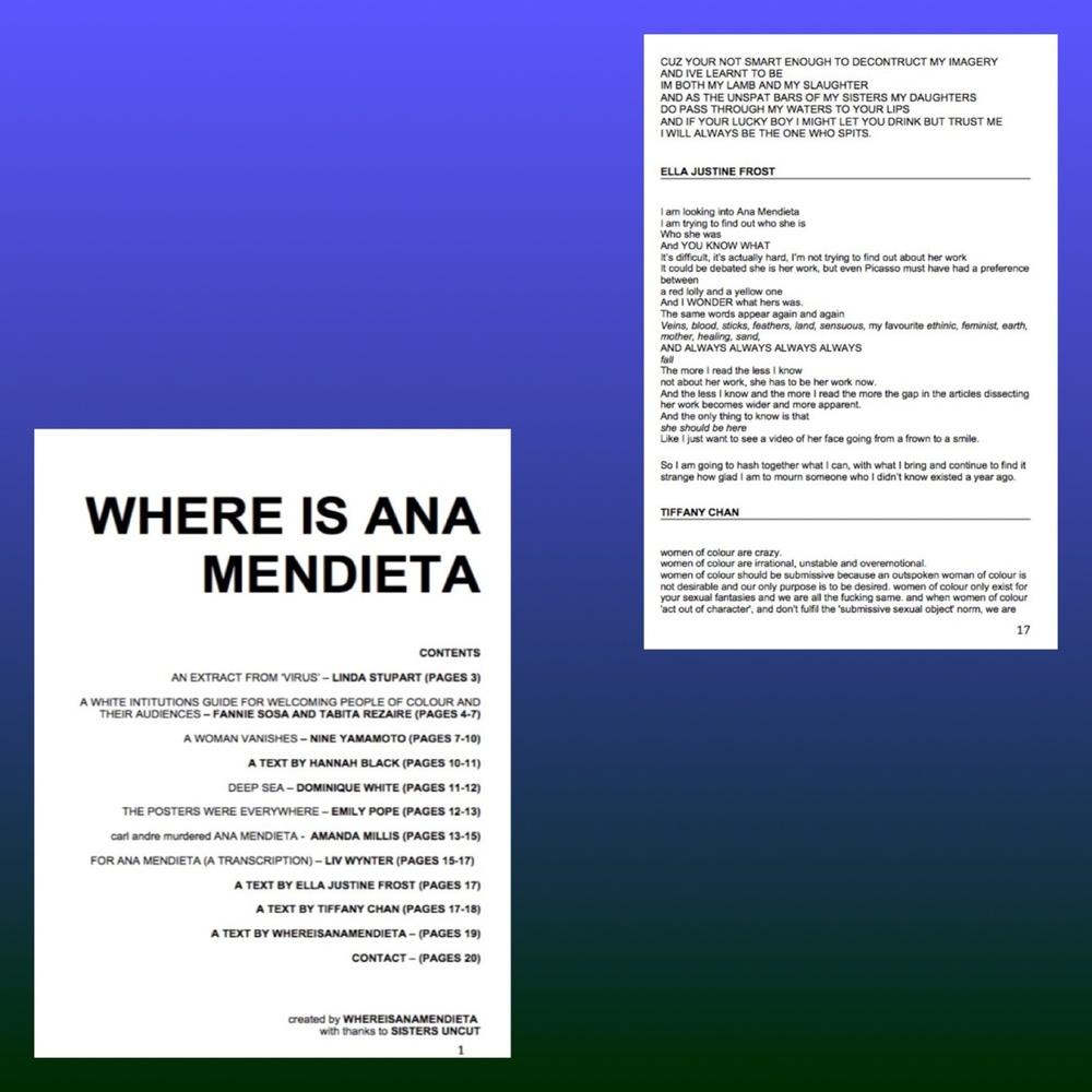 Where is Ana Mendieta 2016