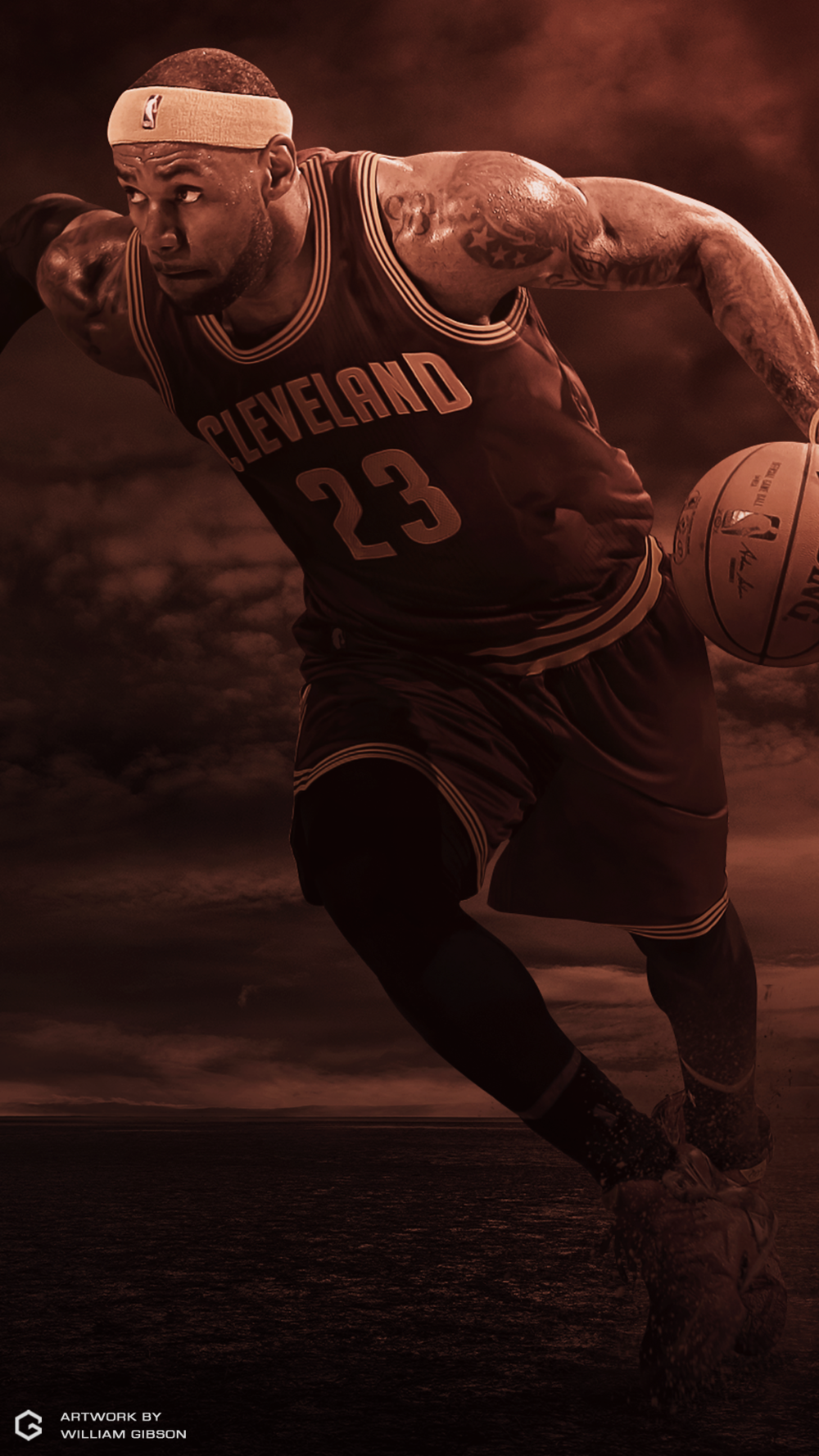 LeBron James Desert iPhone 6 Wallpaper