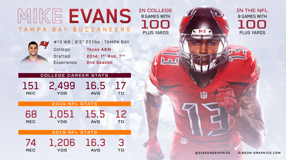 Mike Evans Infographic