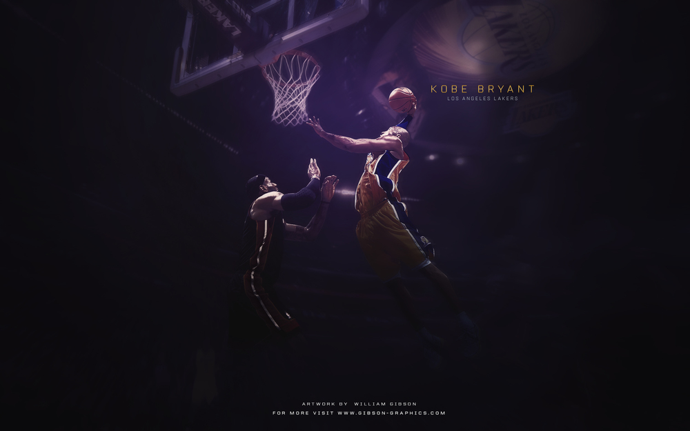 Kobe Bryant Dunk Artwork