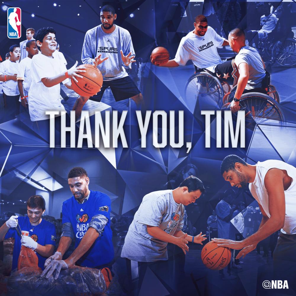 NBA Artwork Thanking Tim Duncan