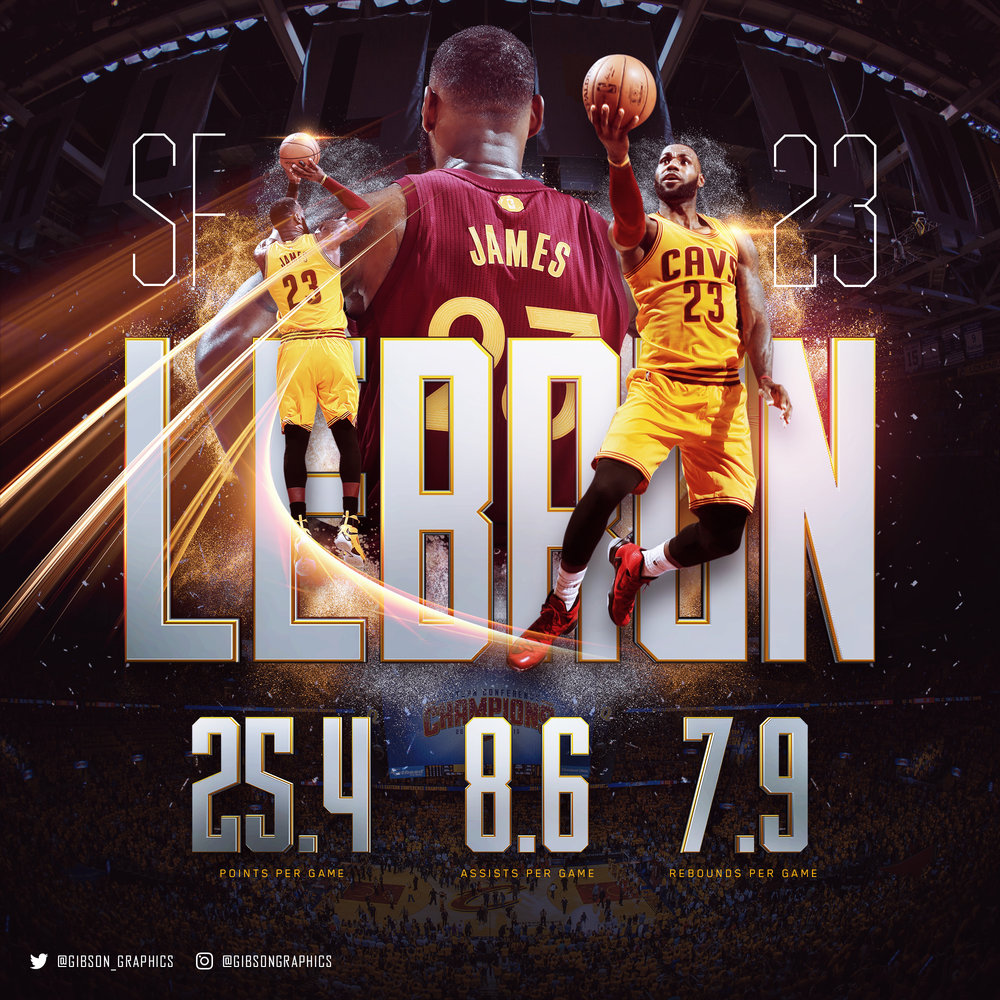LeBron James 2016 NBA Infographic