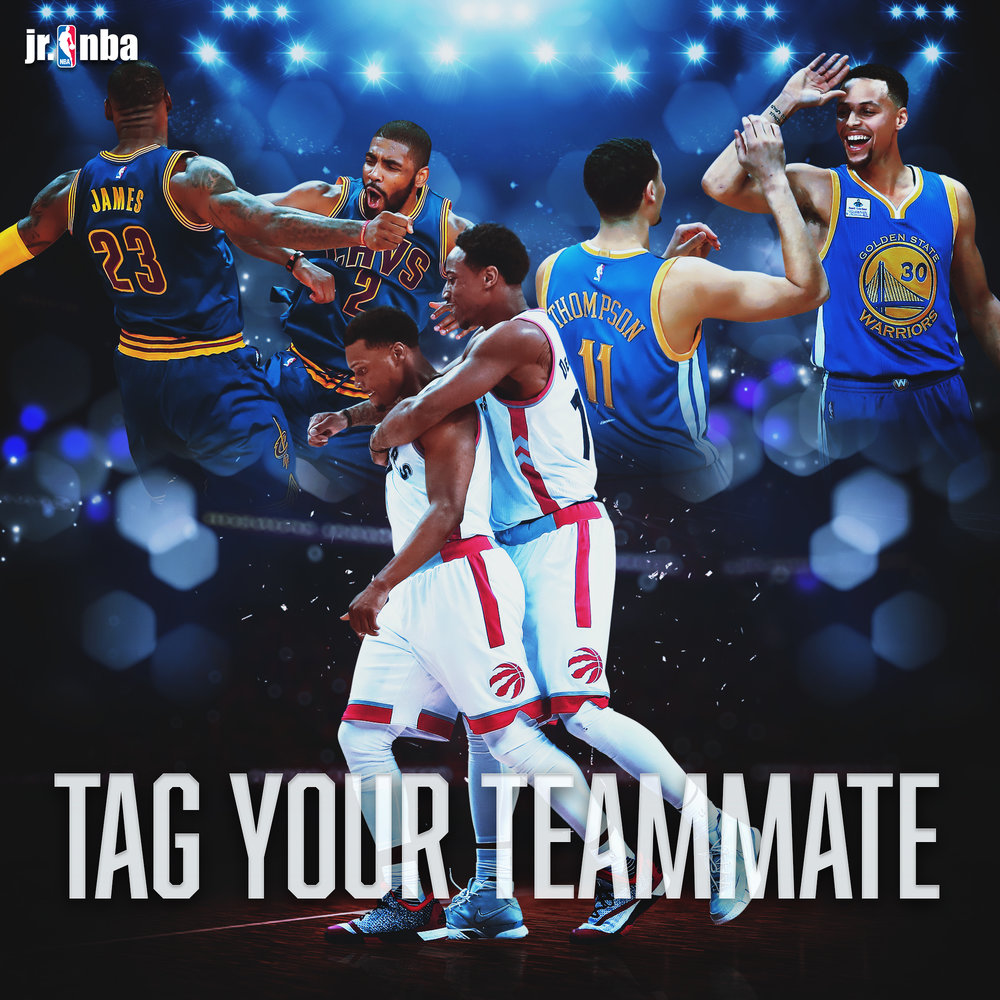 NBA Tag Your Teammate Graphic