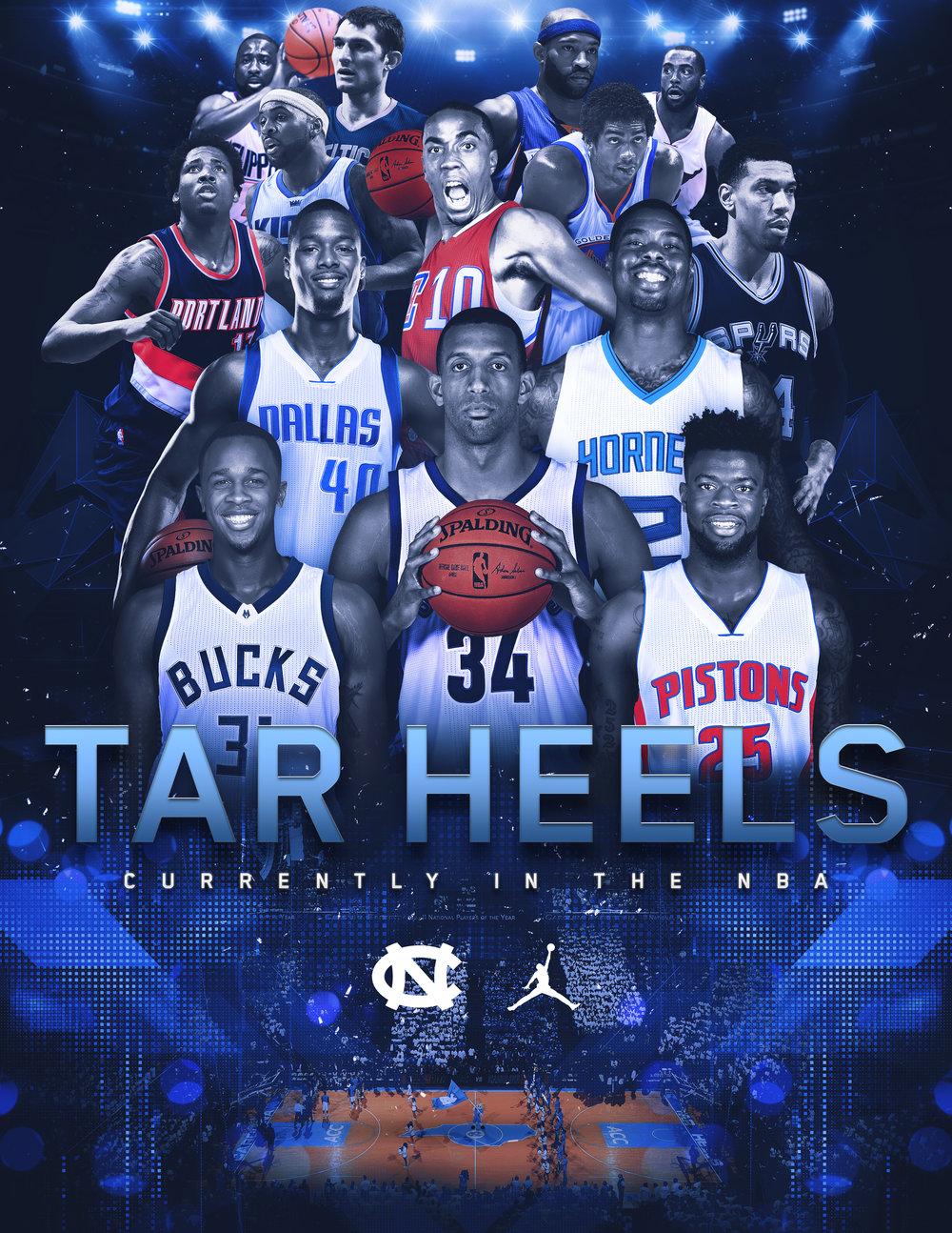 UNC Tar Heels in the NBA