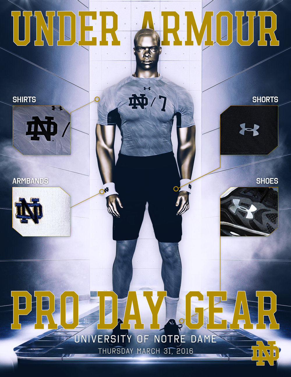 Notre Dame Pro Day Gear