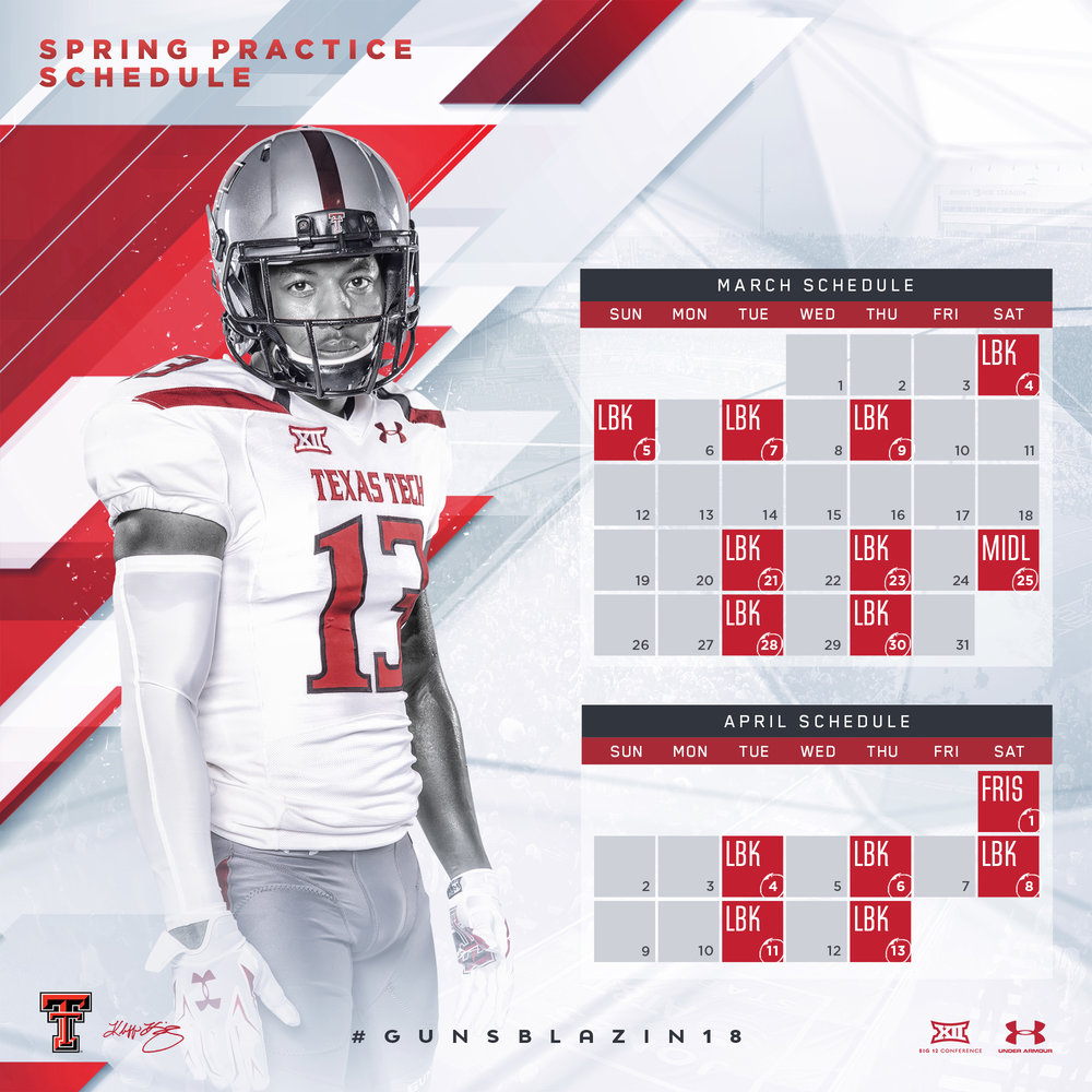 Texas Tech 2017 Spring Practice Schedule