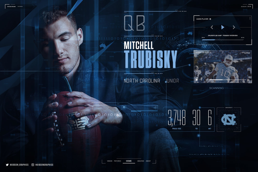 Mitchell Trubisky 2016 Caroline NFL Infographic