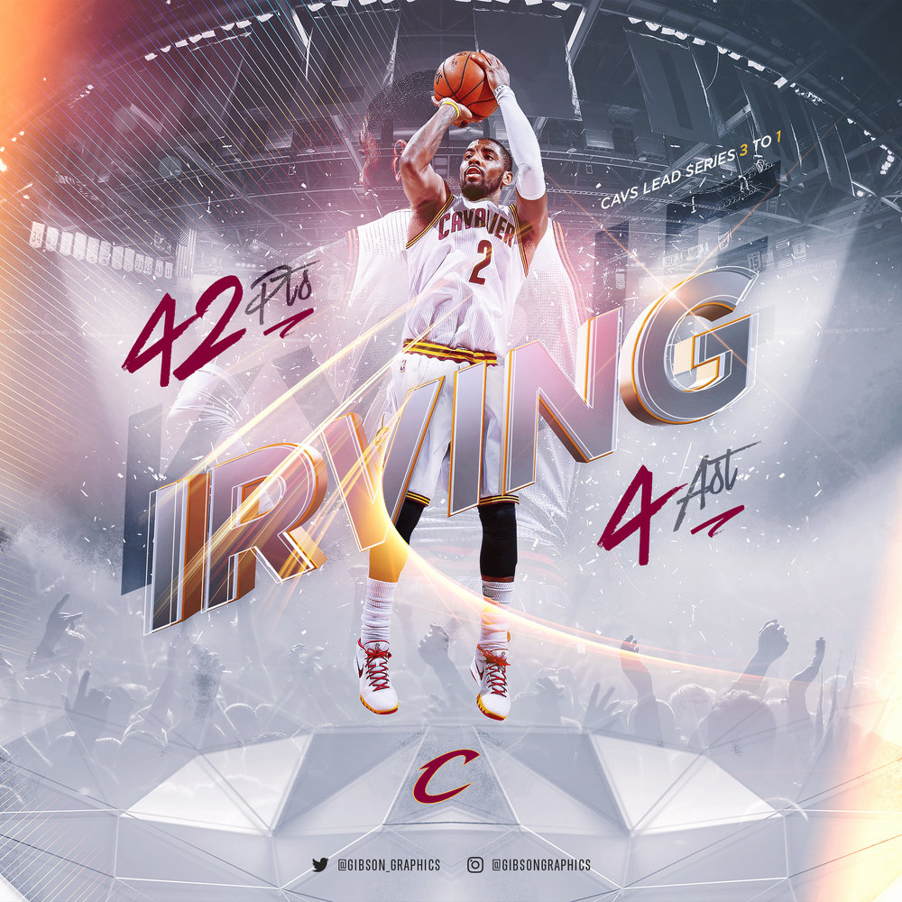 Kyrie Irving Statline of the Night Infographic