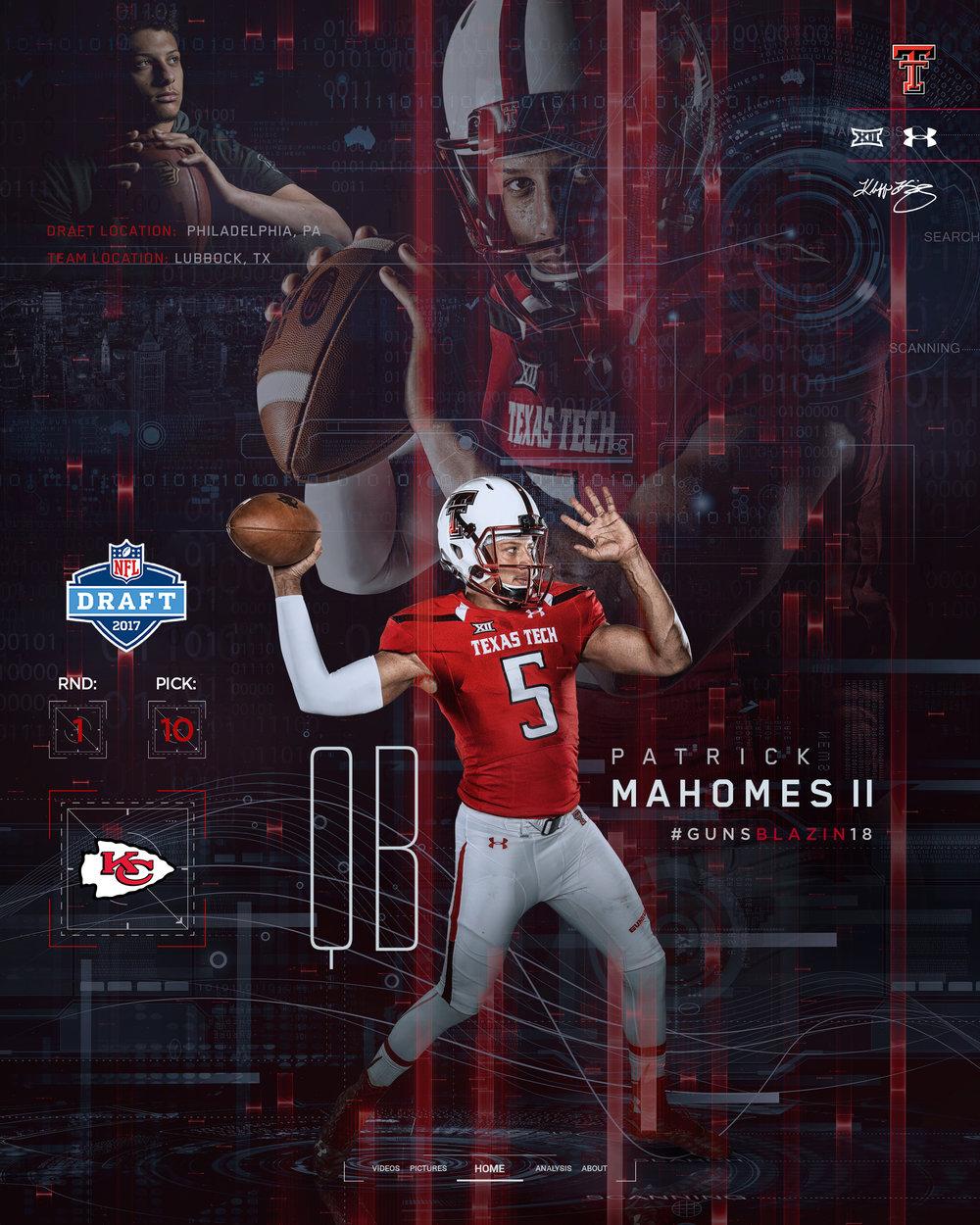 Patrick Mahomes II 2017 NFL Draft Graphic