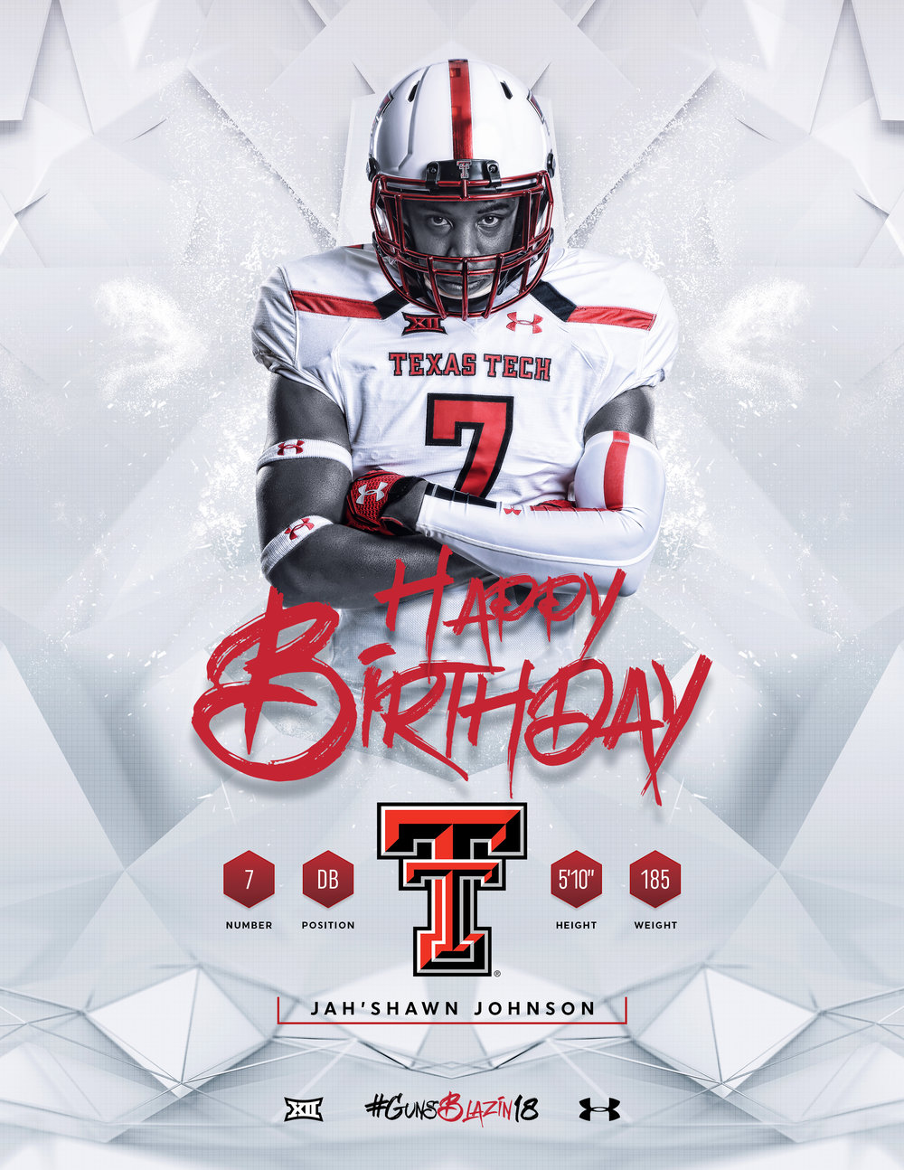 TTU Jah'Shawn Johnson Birthday Graphic