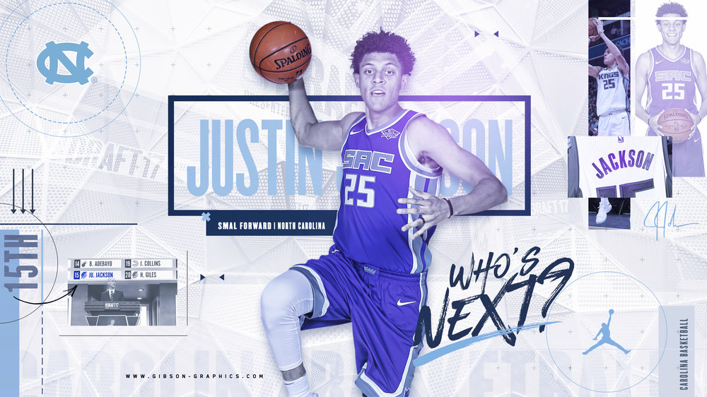 Justin Jackson North Carolina Basketball Draft Infographic
