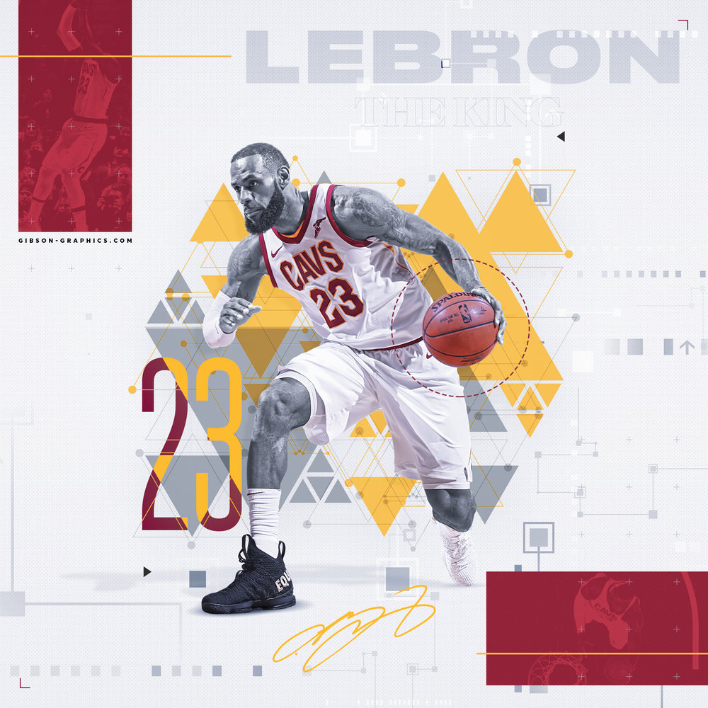 LeBron James 2018 Cavaliers Artwork