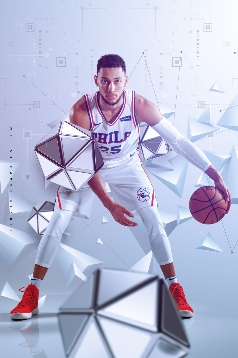 Ben Simmons 76ers NBA Poster Artwork