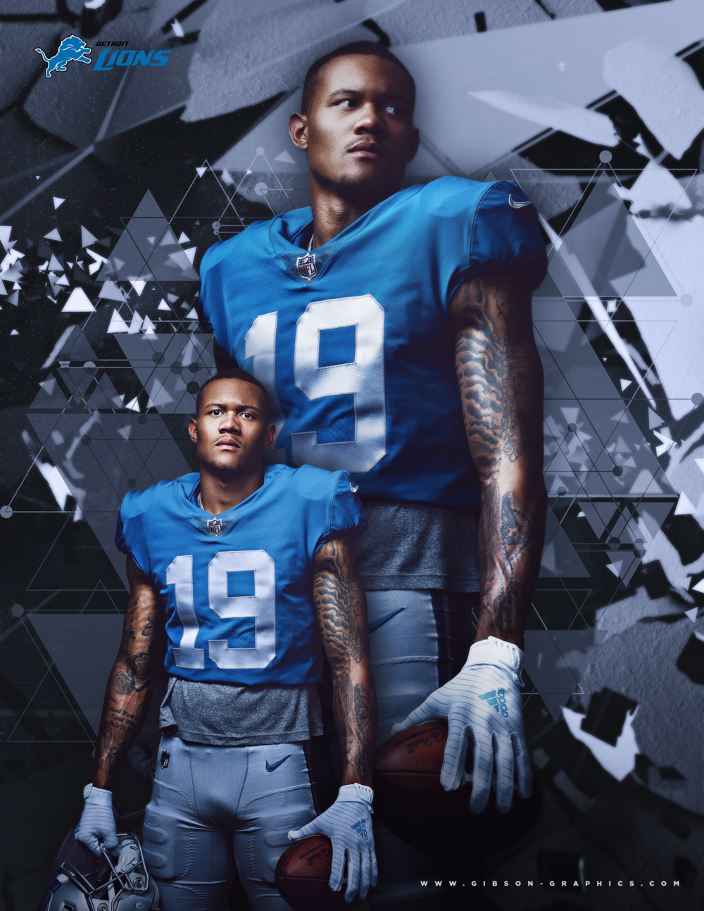Kenny Golladay Detroit Lions Poster