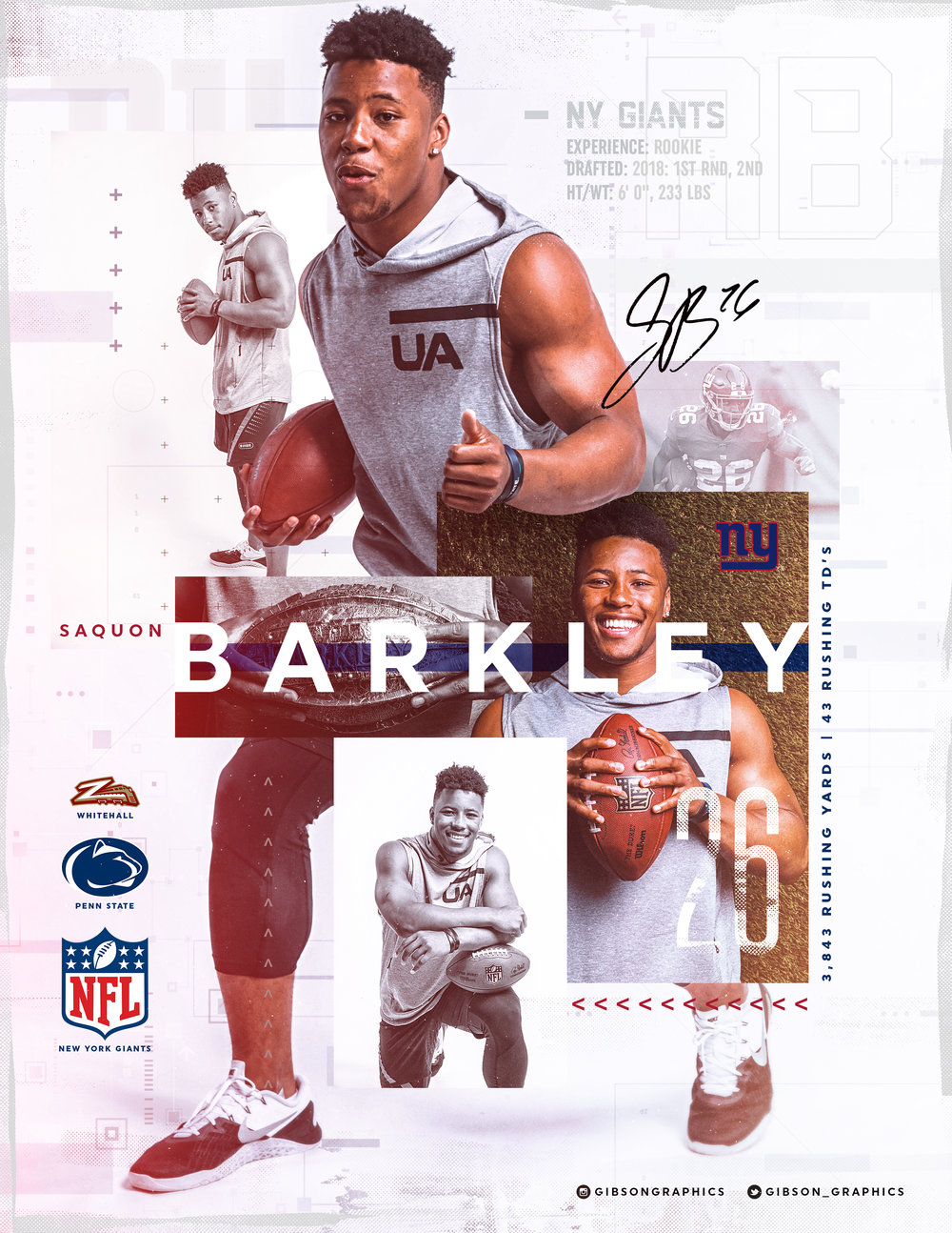 Saquon Barkley Minimal Giants Artwork