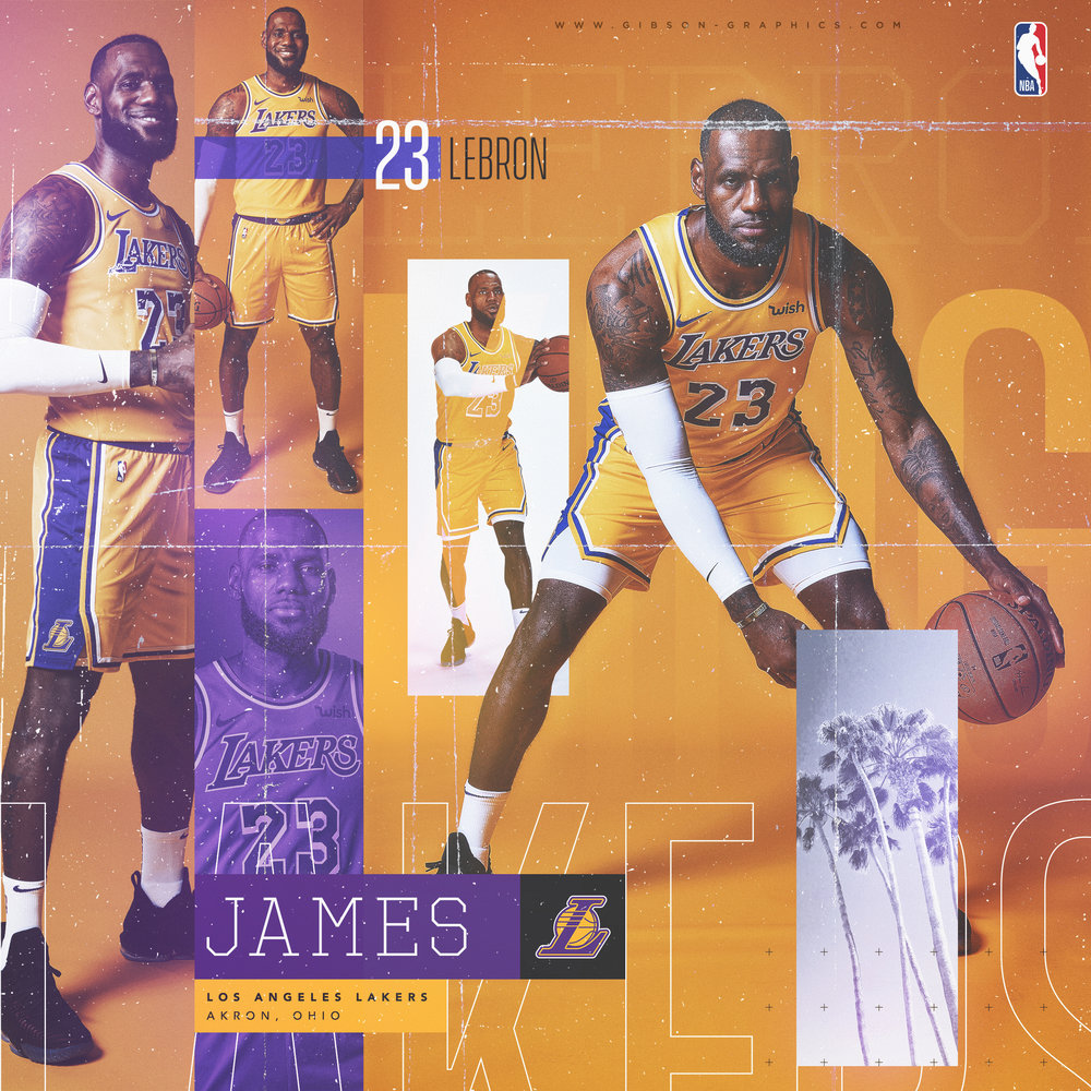 LeBron James Lakers NBA Social Graphic