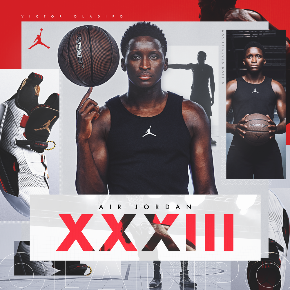 Victor Oladipo NBA Jordan Shoe Graphic