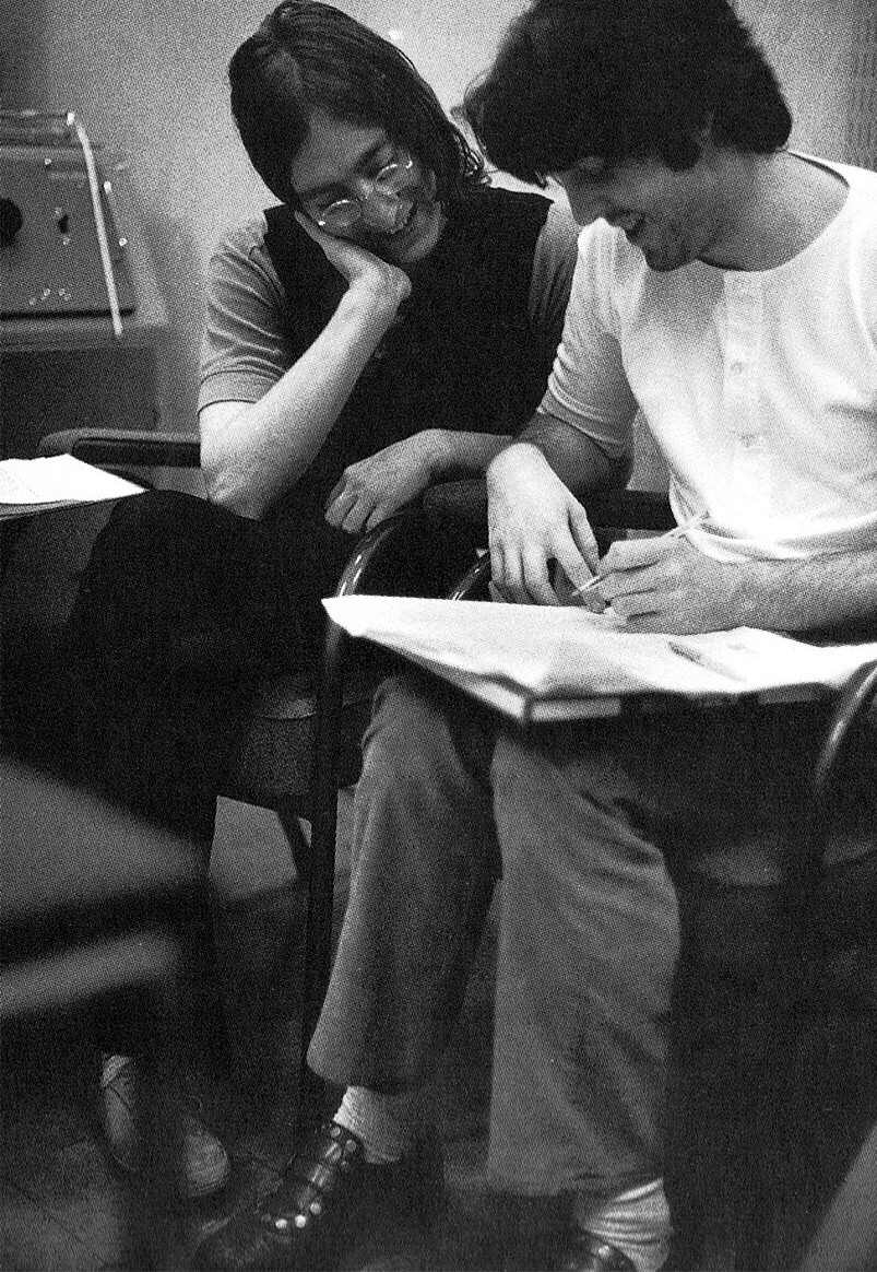 John Lennon and Paul McCartney working on the 'White Album', 1968