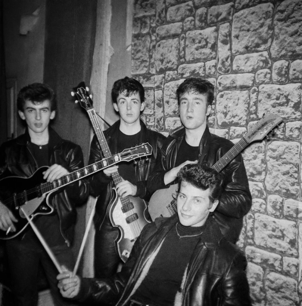 Early photo session with Pete Best, circa 1961