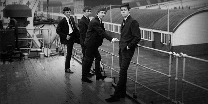 Early shot of the Beatles in Liverpool, 1962