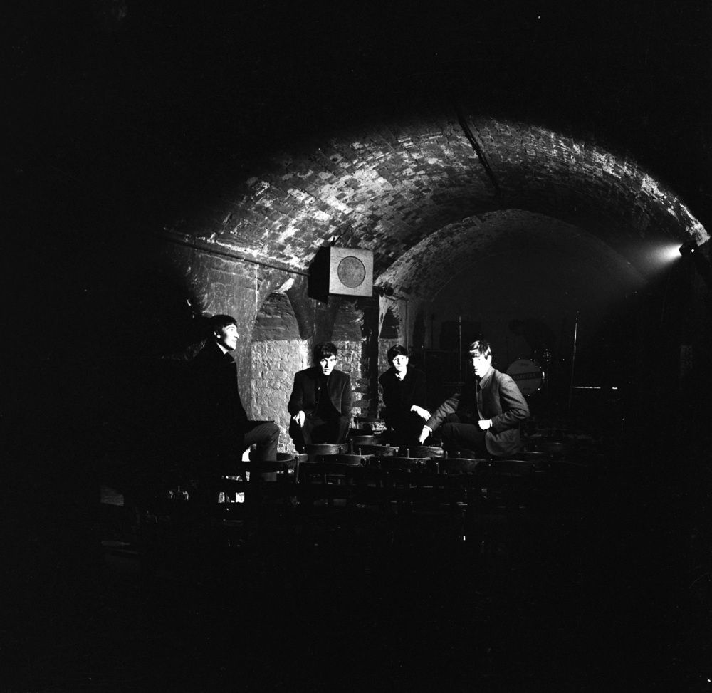 The Beatles relaxing in the Cavern, 1962