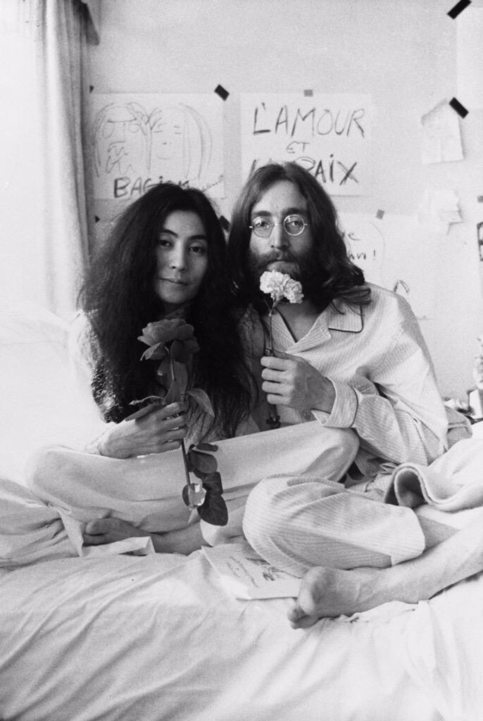 John and Yoko bed-in, 1969
