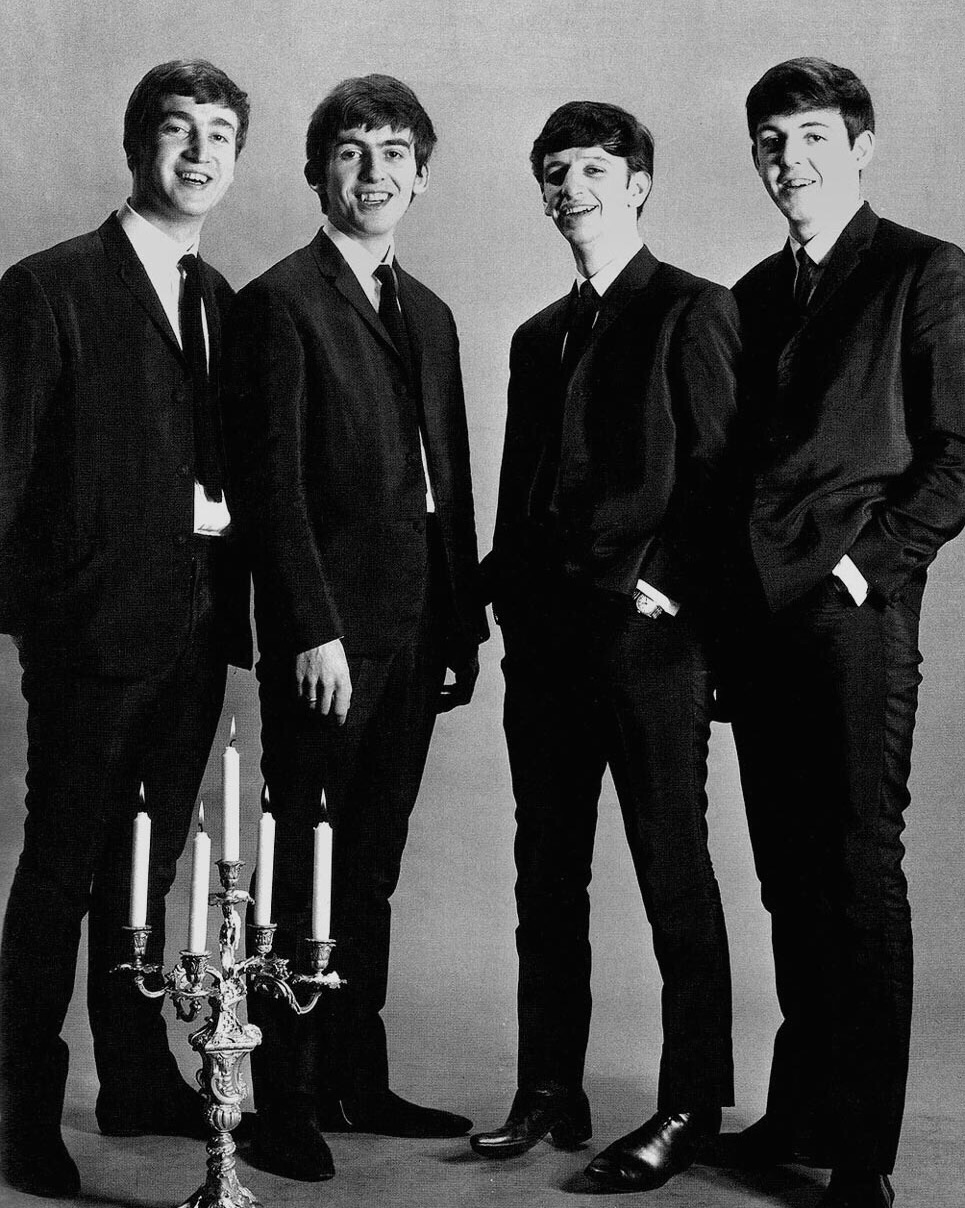 The Beatles publicity photo taken by Astrid Kirchherr, November 1962.