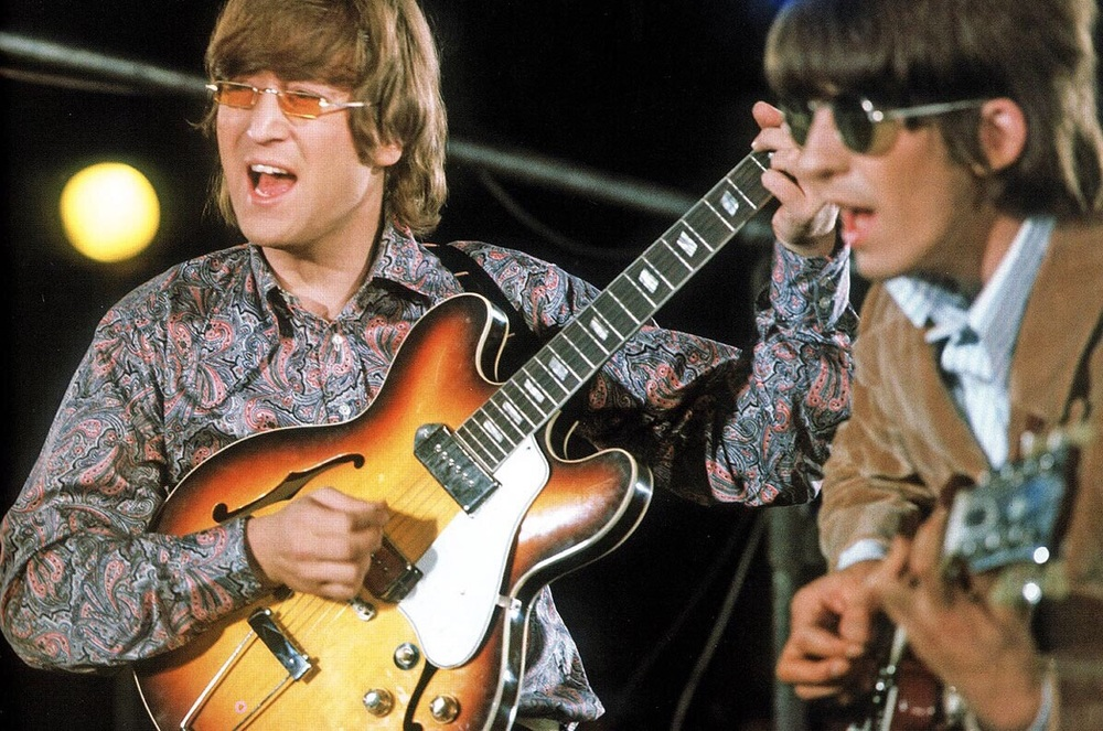 The Beatles recording a promo video for Paperback Writer and Rain, May 19th, 1966.