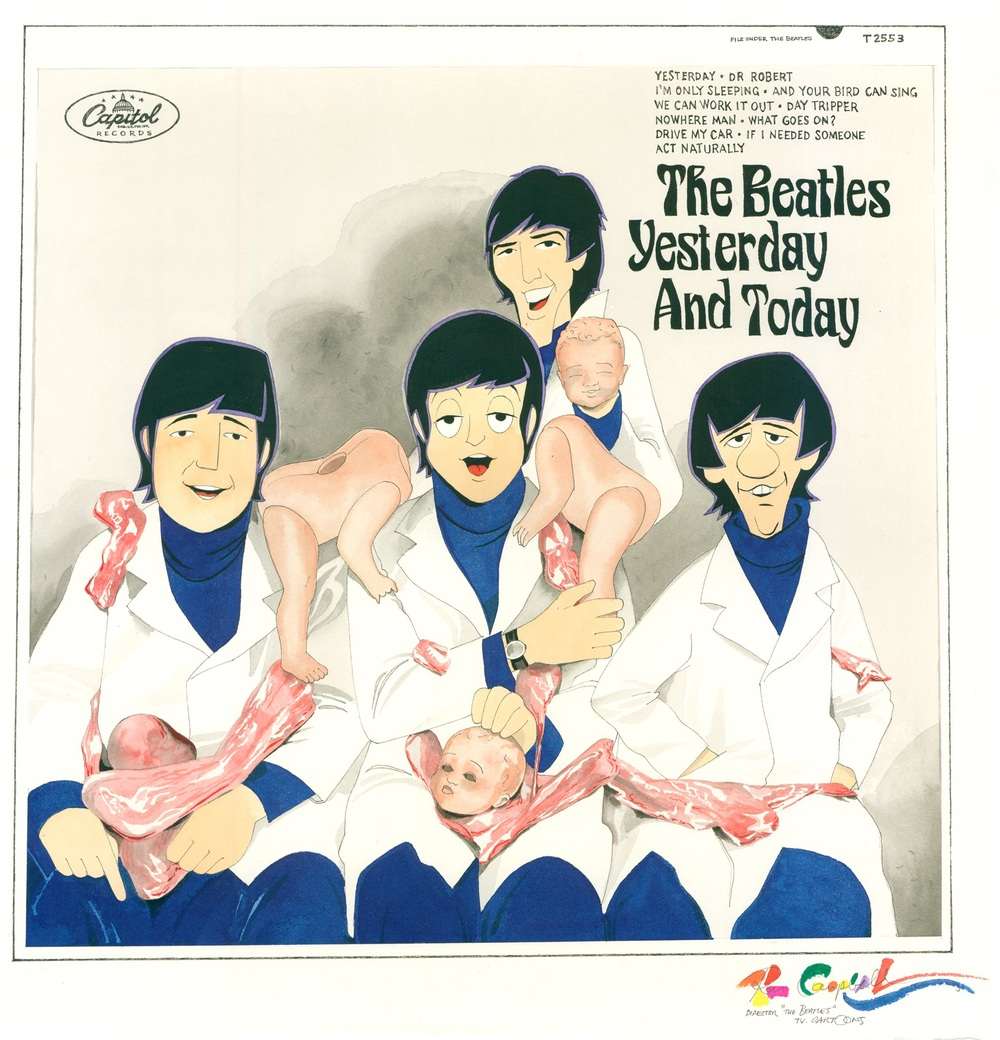 Fan art of the The Beatles' butcher cover.