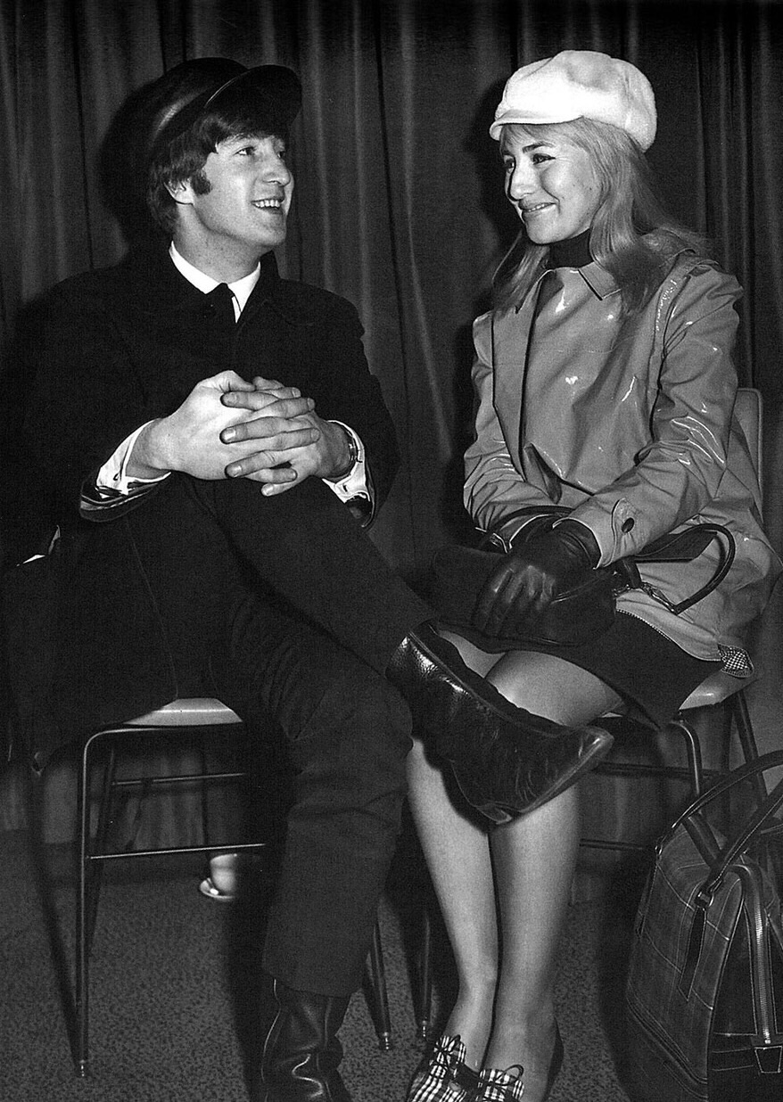 John and Cynthia Lennon in America, February 1964.