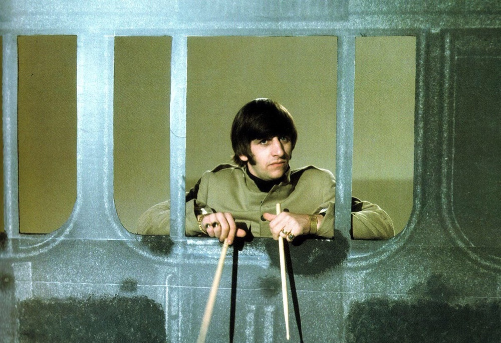 Ringo at a Beatles' photo shoot, November 1965.